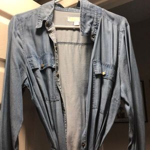 Michael Kors Denim Button-Down Dress